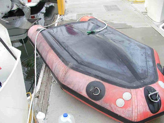 Как сделать дно на резиновой лодке 251